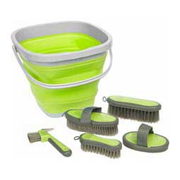 Grooming Kit w/Collapsible Bucket Lime - Item # 43665