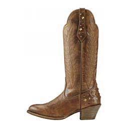 "Dusty Diamond 14"" Cowgirl Boots Tawny - Item # 43725"