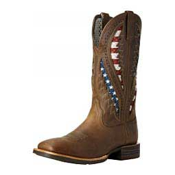 "Quickdraw Venttek 13"" Cowboy Boots Distressed Brown - Item # 43816"