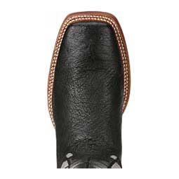 "Relentless World Champion 13"" Mens Cowboy Boots Black Ostrich - Item # 44205"