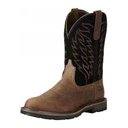 "Groundbreaker 10"" Work Cowboy Boots Brown/Black - Item # 44213"