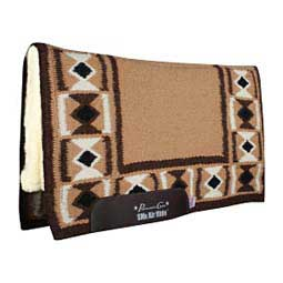 SMx Hourglass Merino Wool Comfort Fit Horse Saddle Pad Tan/Chocolate - Item # 44246