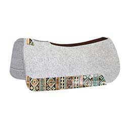 The Rancher Horse Saddle Pad with Wear Leather Designs Turquoise Brown Navajo - Item # 45002