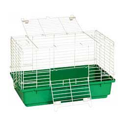 "Pet Lodge Plastic Bottom Small Animal & Rabbit Home Green 24.5"" x 14"" x 16.5"" - Item # 45003"