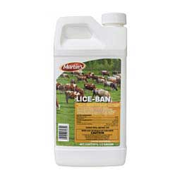 Martin's Lice Ban Pour-On for Dairy Cattle, Beef Cattle & Horses 1/2 Gallon - Item # 45163