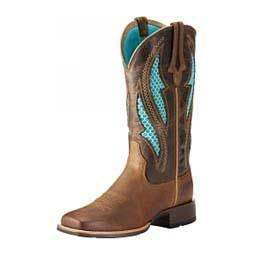 "VentTEK Ultra Western 12"" Cowgirl Boots Distressed Brown - Item # 45173"