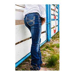 Marine REAL Entwined Boot Cut Womens Jeans Blue - Item # 45197