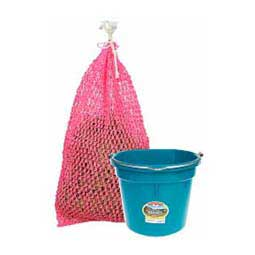 Bucket and Haynet Combo Pack Teal Bucket / Hot Pink Haynet - Item # 45303