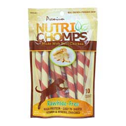 Nutri Chomps Flavor Mini Twists Dog Treats Chicken - Item # 45362