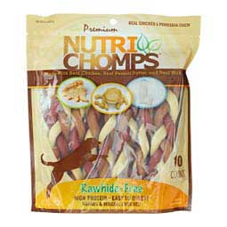"Nutri Chomps 6"" Mixed Flavor Braids Dog Treats 10 ct - Item # 45363"