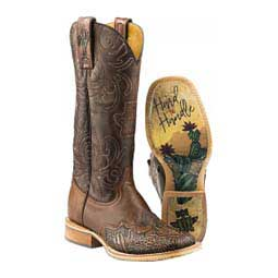 "Cactooled 13"" Cowgirl Boots Brown - Item # 46016"