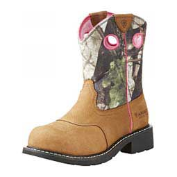"Fatbaby Heritage Steel Toe 8"" Work Boots RealTree - Item # 46089"