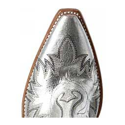 "Dixon Shorty 6"" Cowgirl Boots Metallic Silver - Item # 46134"