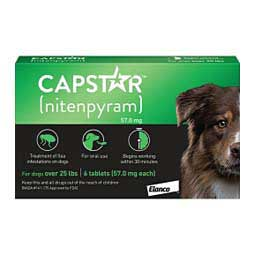 Capstar Oral Flea Tablets for Dogs 6 ct (25 lbs plus) - Item # 46268