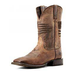"Circuit Patriot 11"" Cowboy Boots Weathered Tan - Item # 46471"