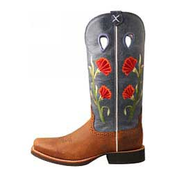 "Ruff Stock 13"" Cowgirl Boots Brown/Navy - Item # 46501"