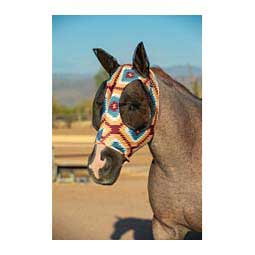 Comfort Fit Lycra Fly Mask with Ears Aztec - Item # 46565