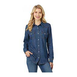 Denim Long Sleeve Womens Shirt Blue - Item # 47030