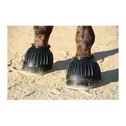Rubber Pull-On Horse Bell Boots Black - Item # 47326