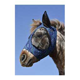 Comfort Fit Deluxe Horse Fly Mask with Ears and Forelock Opening Dragon Scales - Item # 47394
