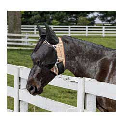 Uviator Horse Fly Mask with Ears Black Plaid - Item # 47466
