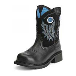"FatBaby Cowgirl Steel Toe 8"" Womens Boot Black Deertan - Item # 47488"
