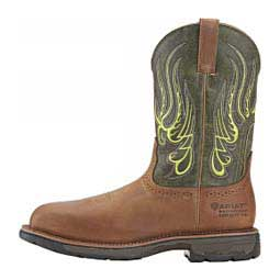 "Workhog Mesteno H2O Wide Square Composite Toe 11"" Mens Work Boot Rust/Green - Item # 47495"