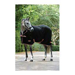 Therapy-Tec Fleece Horse Cooler with Standard Neck Black/Silver/Red - Item # 47677