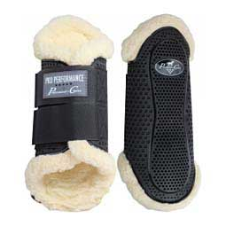 Pro Performance Hybrid Horse Splint Boot with Faux Fleece Lining Black M - Item # 47719