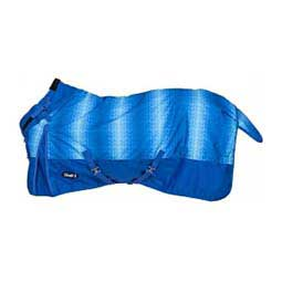 Heavy Weight Chevron Horse Blanket with Snuggit Neck Royal Blue - Item # 47915
