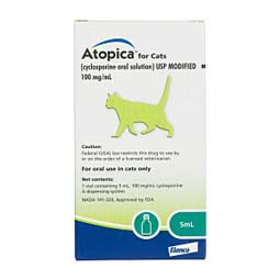 Atopica for Cats 100 mg/ml 5 ml - Item # 522RX