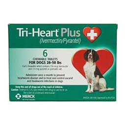 Tri-Heart Plus Chewables for Dogs (Compares to Heartgard Plus) Merck