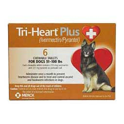 Tri-Heart Plus for Dogs (Compares to Heartgard Plus) 51-100 lbs 6 ct - Item # 548RX