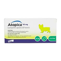 Atopica Capsules for Dogs 10 mg/15 ct (4-9 lbs) - Item # 611RX