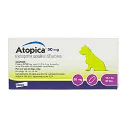 Atopica for Dogs 50 mg/15 ct (16.1-33 lbs) - Item # 613RX