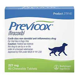 Previcox Chewable Tablets for Dogs 227 mg/60 ct - Item # 754RX