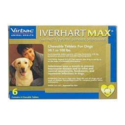 Iverhart Max Heartworm Prevention Chewable Tablets for Dogs 6 ct (50-100 lbs) - Item # 904RX
