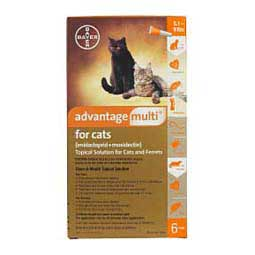 Advantage Multi for Cats Heartworm Prevention and Flea Treatment 6 ct (5-9 lbs) - Item # 997RX