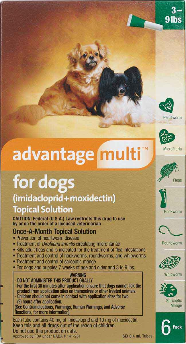 Advantage Multi For Dogs Heartworm Prevention And Flea